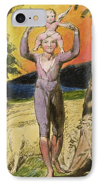 P.124-1950.pt29 Frontispiece To Songs Phone Case by William Blake