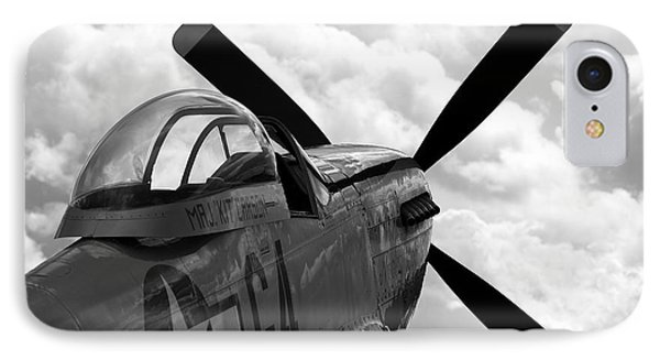 P51 In Clouds Phone Case by Remy NININ