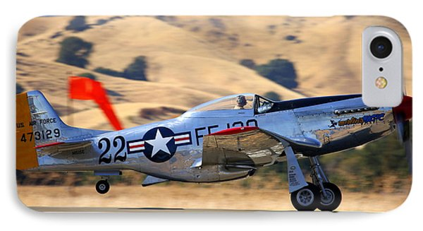 P51 Merlin's Magic On Take-off Roll IPhone Case