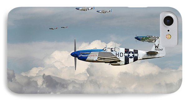 P51 Mustang - Blue Noses - 352nd Fg IPhone Case