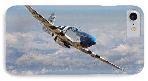 P51 Mustang - Symphony In Blue IPhone Case by Pat Speirs