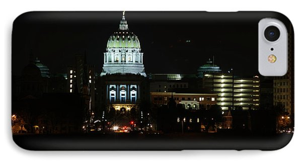 Pa State Capital Night IPhone Case