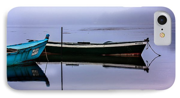 Pacheco Blue Boat IPhone Case by Edgar Laureano