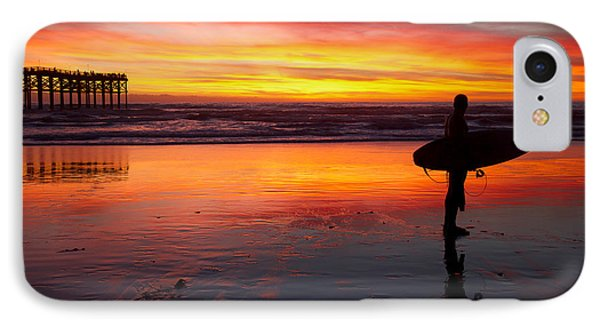 Pacific Beach Was On Fire Tonight IPhone Case by Nathan Rupert