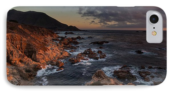 Pacific Coast Golden Light IPhone Case by Mike Reid