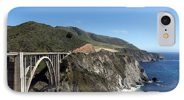 Pacific Coast Scenic Highway Bixby Bridge IPhone Case by Carol M Highsmith