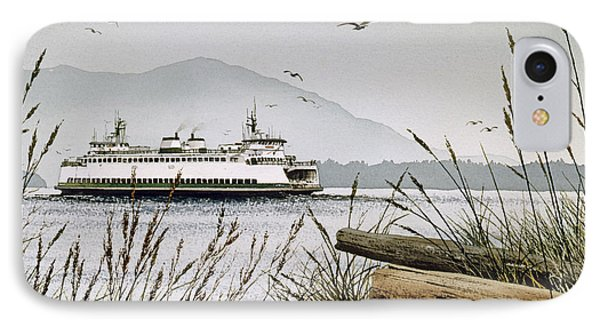 Pacific Northwest Ferry IPhone Case by James Williamson