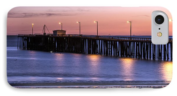 Pacific Ocean At The Pismo Beach Pier  IPhone Case by Carol M Highsmith