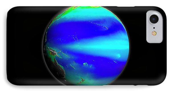 Pacific Phytoplankton Levels IPhone Case by Nasa/gsfc-svs/seawifs/geoeye