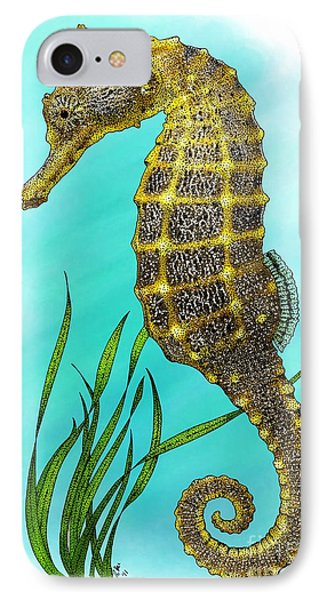 Pacific Seahorse Phone Case by Roger Hall