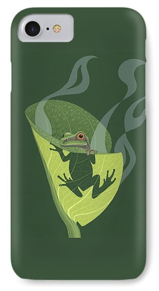 Cabbage iPhone 7 Case - Pacific Tree Frog In Skunk Cabbage by Nathan Marcy