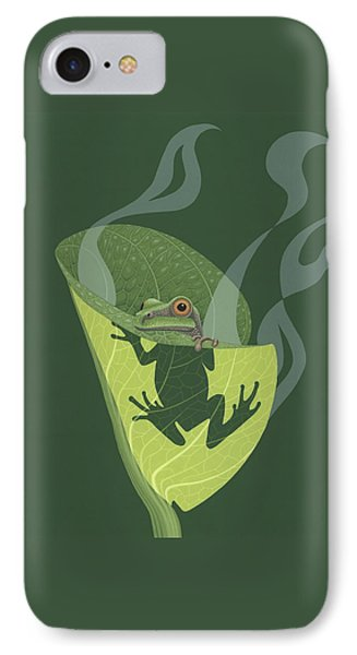 Pacific Tree Frog In Skunk Cabbage IPhone Case by Nathan Marcy