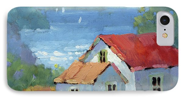 Pacific View Cottage IPhone Case by Joyce Hicks