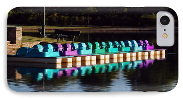 IPhone Case featuring the digital art Paddle Boats by Kelvin Booker