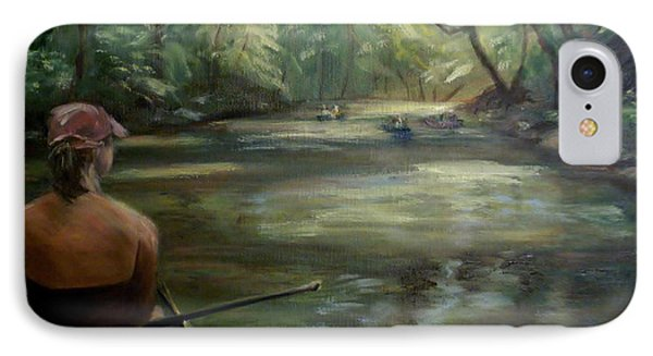IPhone Case featuring the painting Paddle Break by Donna Tuten