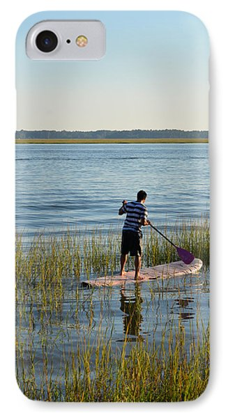 IPhone Case featuring the photograph Paddleboarder by Margaret Palmer
