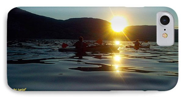 Paddling In The Sunset IPhone Case by Guy Hoffman