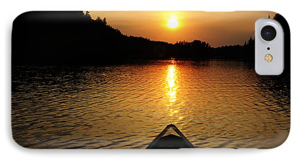 Paddling Off Into The Sunset IPhone Case by Larry Ricker
