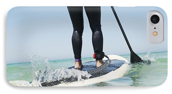 Paddling On A Surfboardtarifa Cadiz IPhone Case by Ben Welsh