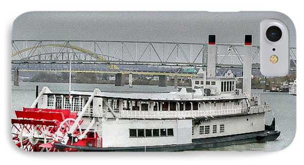 Paddling On The Ohio IPhone Case by David Bearden