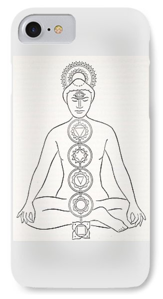 Padmasana Or Lotus Position IPhone Case by English School