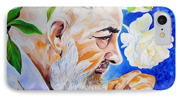 IPhone Case featuring the painting Padre Pio by Ze  Di