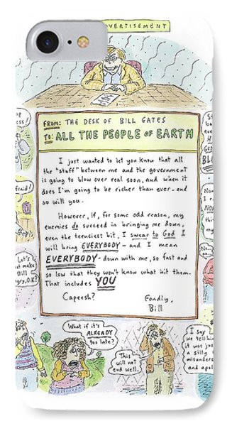 'paid Advertisement' IPhone Case by Roz Chast