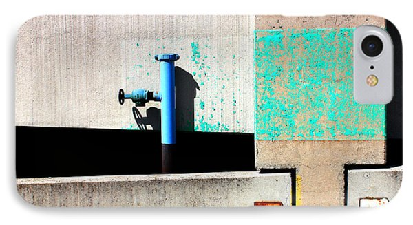 Paint And Pipe Abstract Industrial Decay Series No 003 IPhone Case