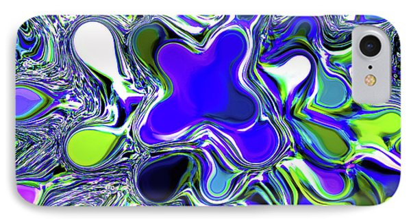 Paint Ball Color Explosion Blue Phone Case by Andee Design