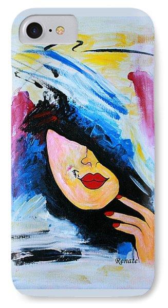 Paint-brush Doodle Phone Case by Renate Dartois
