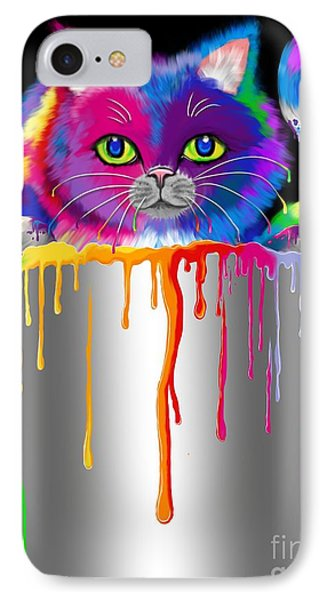 Paint Can Cat IPhone Case by Nick Gustafson