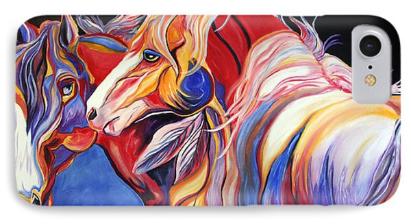 IPhone Case featuring the painting Paint Horse Colorful Spirits by Jennifer Godshalk