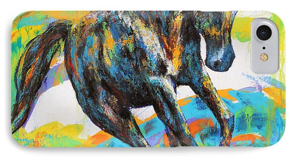 IPhone Case featuring the painting Paint Horse by Jennifer Godshalk