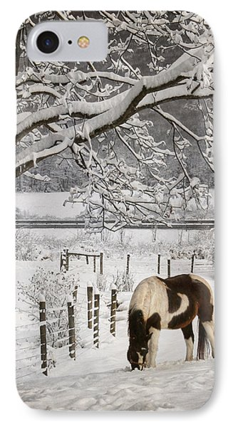 Paint In The Snow IPhone Case by Lori Deiter