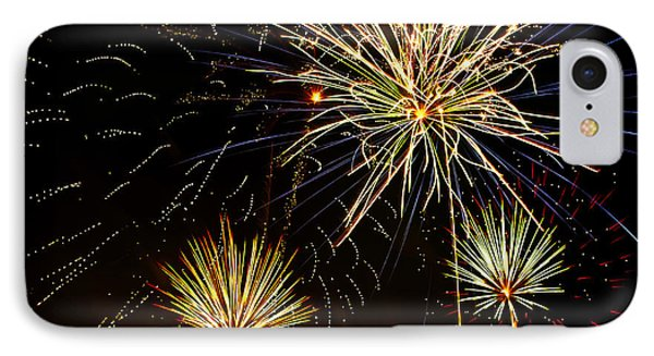 Paint The Sky With Fireworks  IPhone Case by Saija  Lehtonen