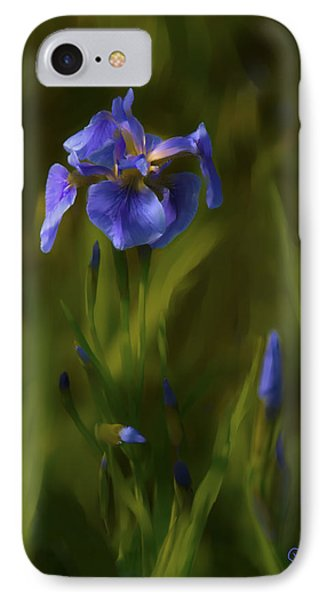 Painted Alaskan Wild Irises IPhone Case by Penny Lisowski