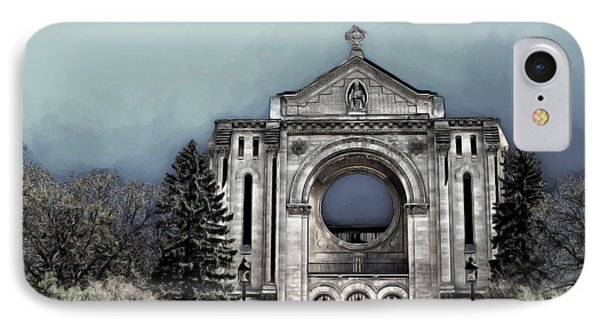 IPhone Case featuring the digital art Painted Basilica 2 by Teresa Zieba