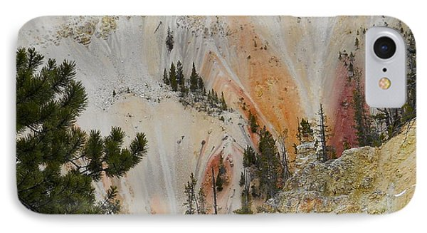 IPhone Case featuring the photograph Painted Canyon At Lower Falls by Michele Myers