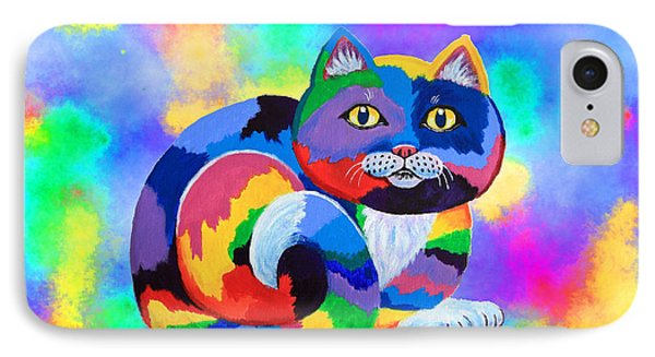Painted Cat Phone Case by Nick Gustafson