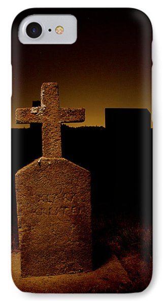 Painted Cross In Graveyard IPhone Case