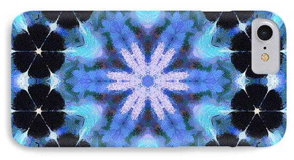 Painted Cymatics 108.00hz IPhone Case by Derek Gedney