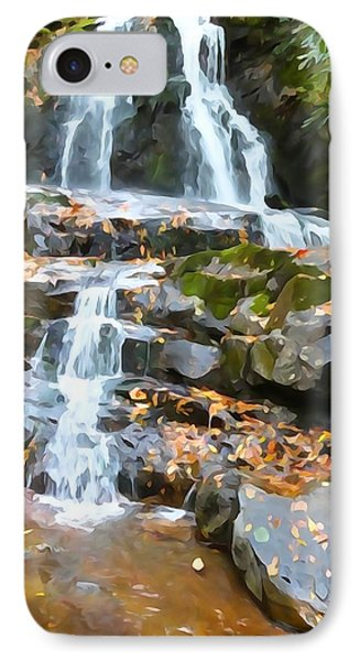 Painted Falls In The Smokies Phone Case by Dan Sproul
