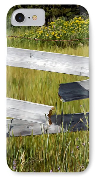Painted Fence IPhone Case by Michele Wright