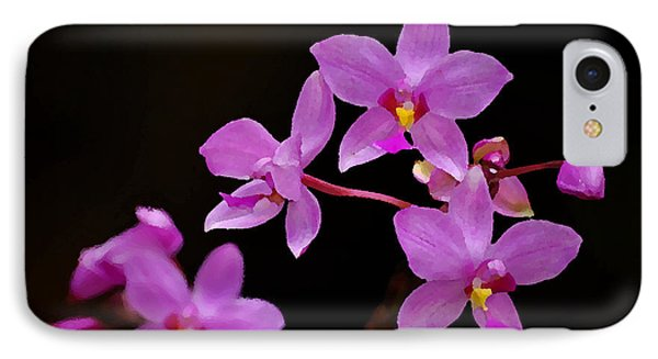 IPhone Case featuring the photograph Painted Ground Orchids by Lorenzo Cassina