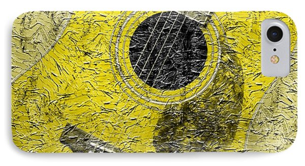 Painted Guitar - Music - Yellow Phone Case by Barbara Griffin