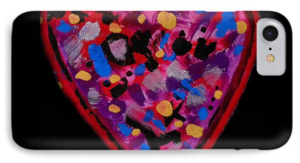IPhone Case featuring the painting Painted Heart 2 by Christine Perry