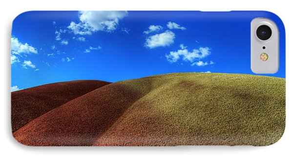 Painted Hills Blue Sky 1 Phone Case by Bob Christopher