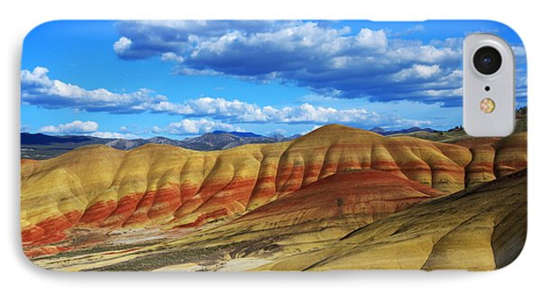 Painted Hills Blue Sky 3 Phone Case by Bob Christopher