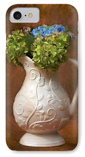 Painted Hydrangeas IPhone Case by Trina  Ansel