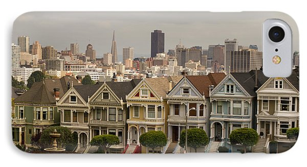 Painted Ladies Row Houses And San Francisco Skyline IPhone Case by Jit Lim